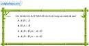 Bài 1.29 trang 14 SBT đại số 10