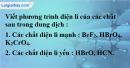 Bài 1.5 trang 3 SBT hóa học 11
