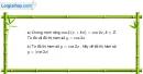 Bài 1.6 trang 13 SBT đại số và giải tích 11