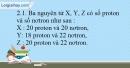 Bài 2.1 ,2.2 trang 5 SBT Hóa học 10