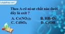 Bài 2.1, 2.2, 2.3 trang 4 SBT hóa học 11
