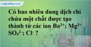Bài 2.4 trang 4 SBT hóa học 11