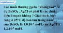 Bài 2.5 trang 4 SBT hóa học 11
