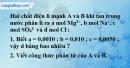 Bài 2.6 trang 4 SBT hóa học 11