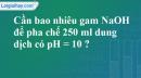 Bài 3.9 trang 6 SBT hóa học 11