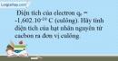 Bài 6.10 trang 16 SBT Hóa học 10