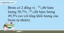 Bài 6.14 trang 16 SBT Hóa học 10
