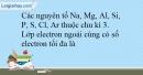 Bài 7.1 trang 17 SBT Hóa học 10