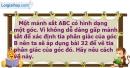 Bài 33 trang 83 Vở bài tập toán 7 tập 2