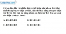 Bài 9.3 trang 24 SBT Vật lý 9