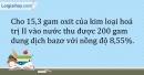 Bài 1.6 Trang 4 SBT Hóa học 9