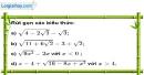 Bài 21 trang 8 SBT toán 9 tập 1