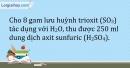 Bài 2.7 Trang 4 SBT Hóa học 9