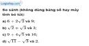 Bài 20 trang 8 SBT toán 9 tập 1