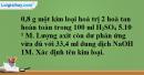Bài 4.10 trang 7 SBT hóa học 11