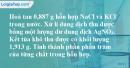 Bài 4.13 trang 7 SBT hóa học 11