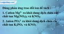 Bài 4.5 trang 7 SBT hóa học 11