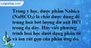 Bài 4.7* trang 7 SBT hóa học 11