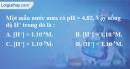 Bài 5.1 trang 8 SBT hóa học 11