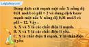 Bài 5.2, 5.3, 5.4 trang 8 SBT hóa học 11