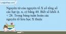 Bài 7.4 trang 17 SBT Hóa học 10