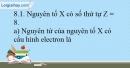 Bài 8.1, 8.2, 8.3, 8.4, 8.5 trang 19 SBT Hóa học 10