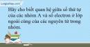 Bài 8.10 trang 20 SBT Hóa học 10