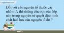Bài 8.9 trang 20 SBT Hóa học 10