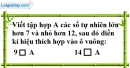 Bài 1 trang 5 SBT toán 6 tập 1