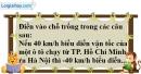 Bài 2.1 phần bài tập bổ sung trang 69 SBT Toán 6 tập 1