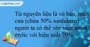 Bài 6.15 trang 16 SBT Hóa học 12