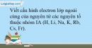 Bài 8.13 trang 21 SBT Hóa học 10