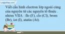 Bài 8.14 trang 21 SBT Hóa học 10