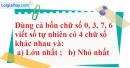 Bài 3.2 phần bài tập bổ sung trang 9 SBT toán 6 tập 1