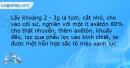 Bài 8 trang 15 SBT Sinh học 11