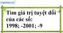 Bài 20 trang 69 SBT toán 6 tập 1