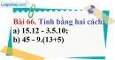 Bài 66 trang 109 Vở bài tập toán 6 tập 1