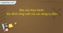 Thực hành: Xác định công suất của các dụng cụ điện trang 42 SGK Vật lí 9