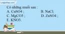 Bài 10.1 Trang 13 SBT Hóa học 9