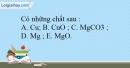 Bài 12.5 Trang 17 SBT Hóa học 9