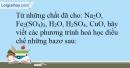 Bài 12.6 Trang 17 SBT Hóa học 9