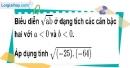 Bài 31 trang 10 SBT toán 9 tập 1
