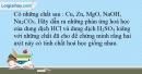Bài 5.1 Trang 7 SBT Hóa học 9