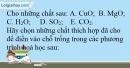 Bài 5.3 Trang 8 SBT Hóa học 9