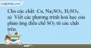 Bài 5.4 Trang 8 SBT Hóa học 9