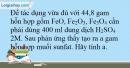 Bài 5.6 Trang 8 SBT Hóa học 9
