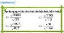 Bài 37 trang 11 SBT toán 9 tập 1