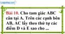 Bài 10 trang 99 Vở bài tập toán 8 tập 1