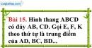 Bài 15 trang 103 Vở bài tập toán 8 tập 1