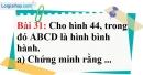 Bài 31 trang 115 Vở bài tập toán 8 tập 1